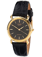 Citizen Black/Gold Leather Band Watch