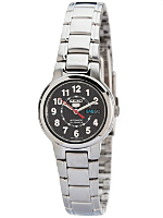 Seiko 21 Jewels Charcoal/Silver Ladies' Metal Band Watch