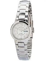 Seiko 21 Jewels White/Silver Ladies' Metal Band Watch