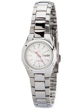 Seiko 21 Jewels Silver Ladies' Metal Band Watch