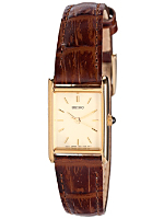 Seiko Gold Ladies' Leather Band Watch
