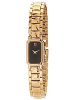 Seiko Minimalist Black/Gold Ladies' Metal Band Watch