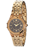 Seiko Textured Black/Gold Ladies' Metal Band Watch