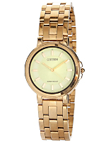 Citizen Glow-in-the-Dark/Gold Metal Band Watch