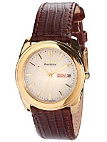 Citizen Eco-Drive Pearl/Gold Leather Band Watch