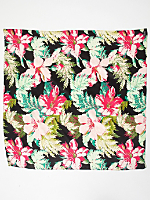 Vintage Tropical Flowers Silk Scarf