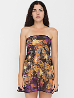 California Select Original Butterfly Print Tie-Up Mini Dress