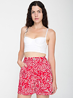 Vintage Bill Blass High-Waisted Floral Denim Short