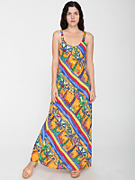 Vintage Colorful Palm Tress Maxi Sundress