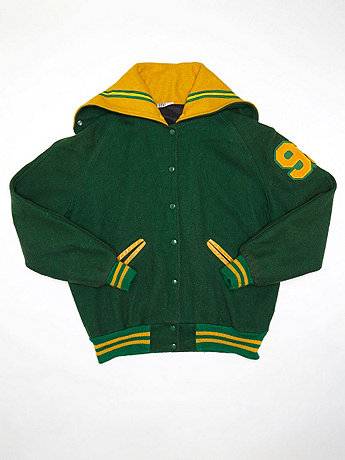 Vintage Amy Hooded Varsity Jacket