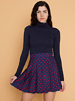 Vintage Polka Dot Pleated Tennis Skirt