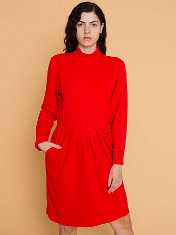 Vintage Mock Neck Knit Dress