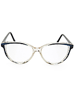 Vintage Blue/Black/Clear Cat Eye Eyeglasses