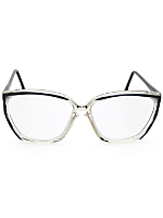 Vintage Black/Clear Angular Eyeglasses