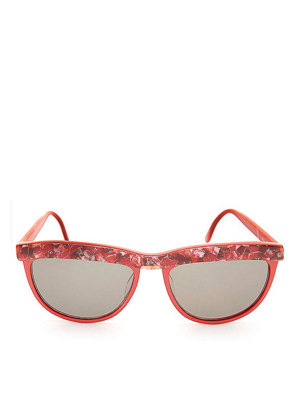 Vintage Opalescent Red Sunglasses
