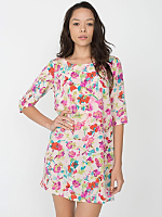 California Select Original Watercolor Floral Tent Dress