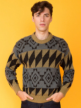 Vintage Benetton Geometric Wool Sweater