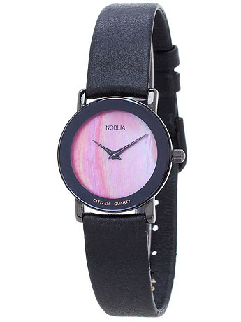 Vintage Noblia by Citizen Mother of Pearl Ladies' Leather Band Watch