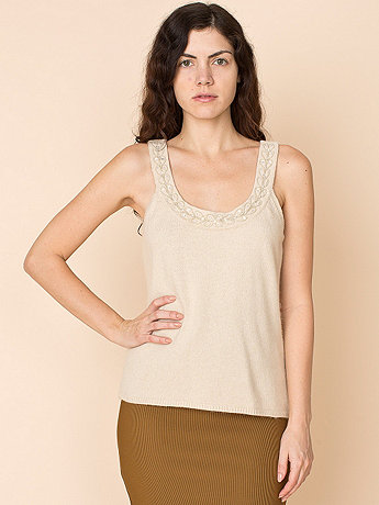 Vintage Beaded Angora & Lambswool Knit Tank