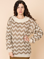 Vintage Chevron Mohair Sweater