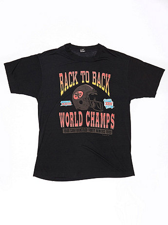 Vintage 49ers Back to Back World Champs T-shirt