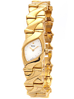 Seiko White/Gold Ladies' Metal Band Watch