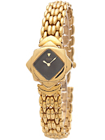 Seiko Black/Gold Diamond Ladies' Metal Band Watch