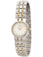 Seiko White/Gold/Silver Ladies' Metal Band Watch