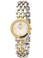 Citizen Elegance Textured Silver/Gold Ladies' Metal Band Watch