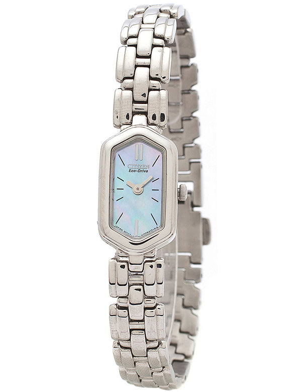 Citizen Eco-Drive Mother of Pearl Ladies' Metal Band Watch