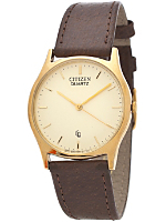 Citizen Gold Leather Band Watch