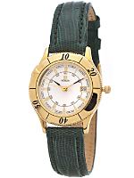 Vintage Noblia by Citizen White/Gold Ladies' Lizard Band Watch