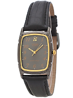 Citizen Gunmetal/Gold/Black Leather Band Watch
