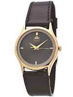 Seiko Black/Graphite/Gold Ladies' Leather Band Watch