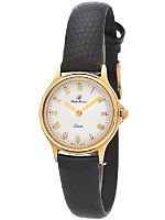 Vintage Peire Bernie White/Gold Ladies' Leather Band Watch