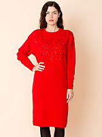 Vintage Beaded Lambswool & Angora Sweater Dress