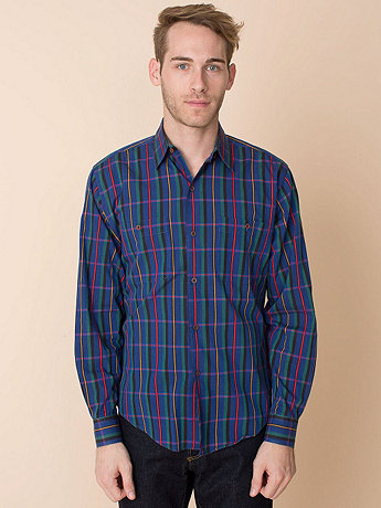 Vintage Yves Saint Laurent Plaid Button-Up Shirt