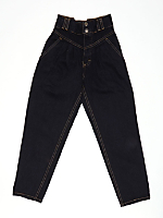 Vintage Kids' High-Waisted Black Jean