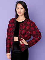 Vintage Sequined Squares Jacket