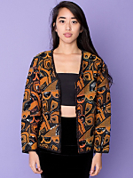 Vintage Abstract Floral Sequined Swing Jacket