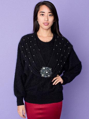 Vintage Gems & Beading Angora Sweater