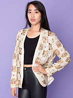 Vintage Sequined & Beaded Geometric Silk Jacket