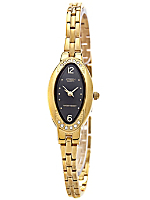 Citizen Black/Gold Rhinestone Ladies' Metal Band Watch
