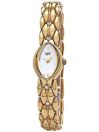 Citizen Elegance Mother of Pearl Ladies' Metal Band Watch