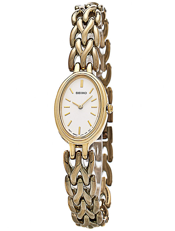 Seiko Iridescent Oval Ladies' Metal Band Watch
