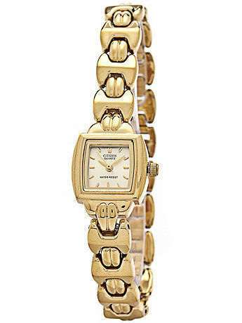 Citizen Gold Square Ladies' Metal Band Watch