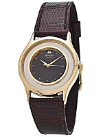 Seiko Black/Silver/Gold Ladies' Leather Band Watch