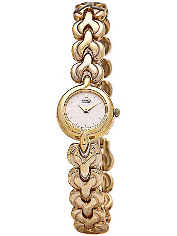 Seiko Rose Gold/Gold Ladies' Chain Link Watch