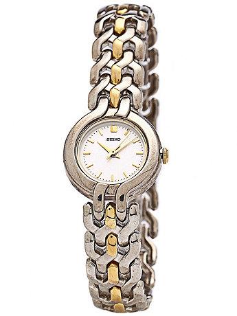 Seiko Silver/Gold Ladies' Chain Link Watch