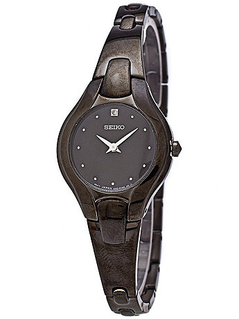 Seiko Gunmetal Ladies' Metal Band Watch